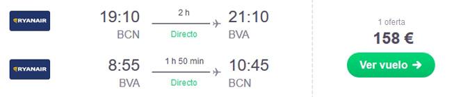 vuelo barcelona paris oferta chollo viaje