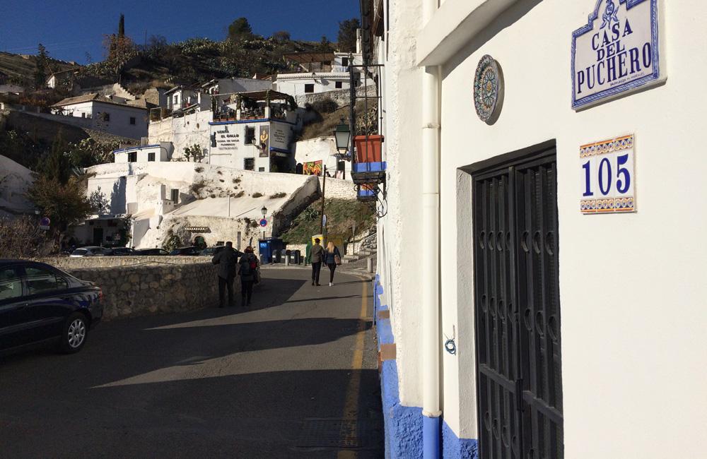 Barrio de Sacromonte en Granada.