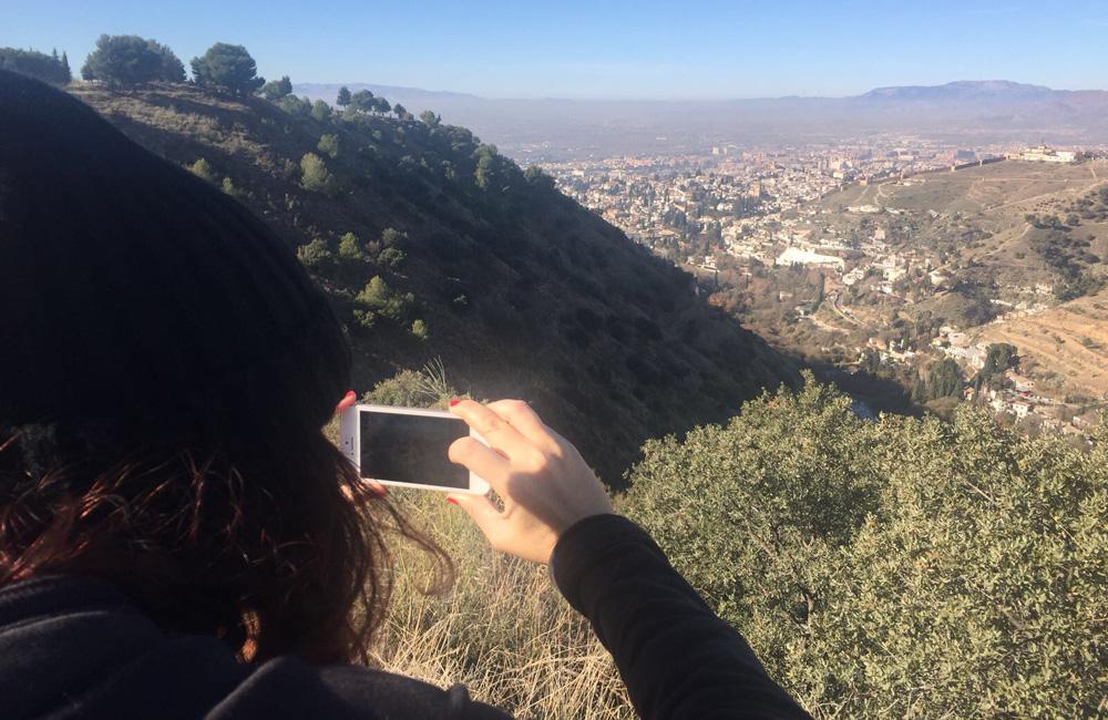 Vistas del barrio de Sacromonte en Granada.