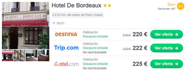 alojamiento hotel paris oferta chollo viaje