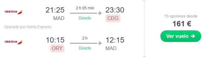 vuelo madrid paris oferta chollo viaje