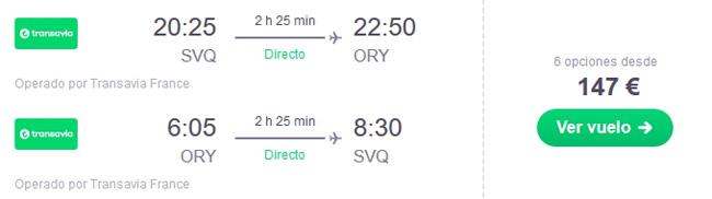 vuelo sevilla paris oferta chollo viaje
