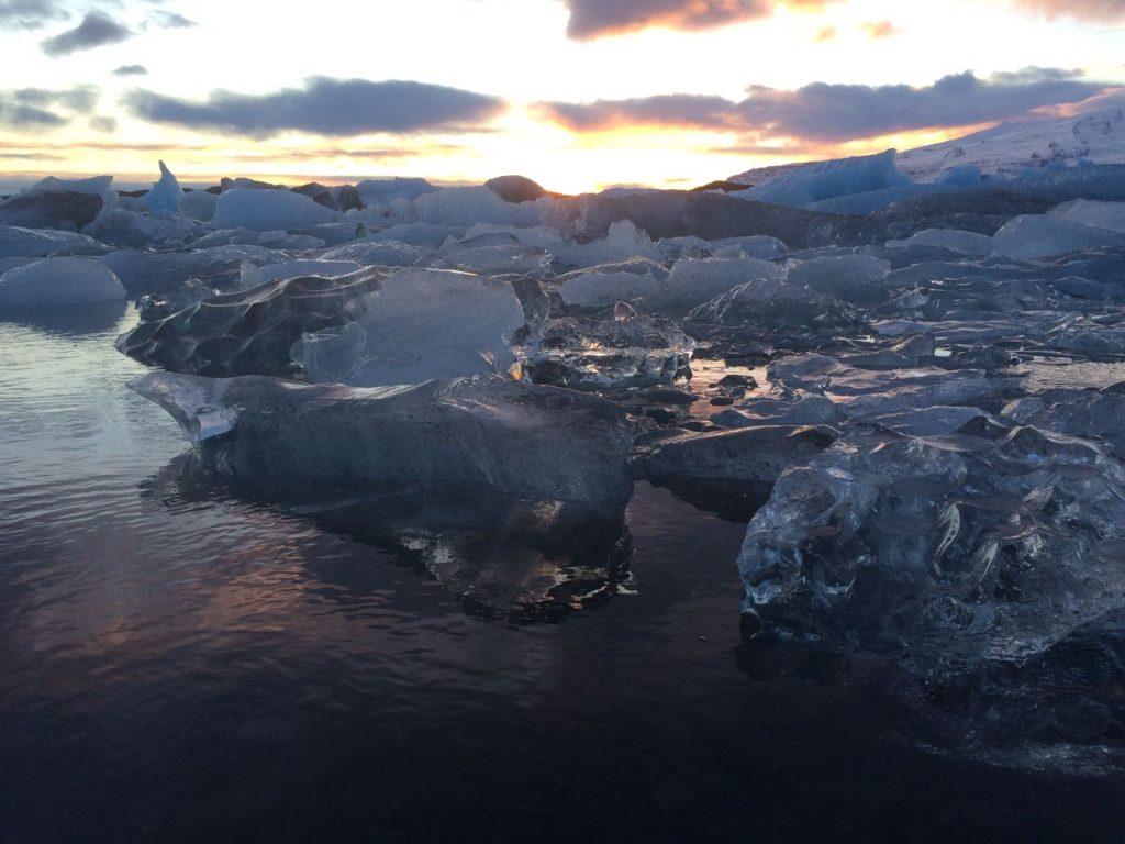 laguna glaciar iceberg islandia