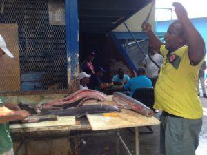El mercado de mariscos