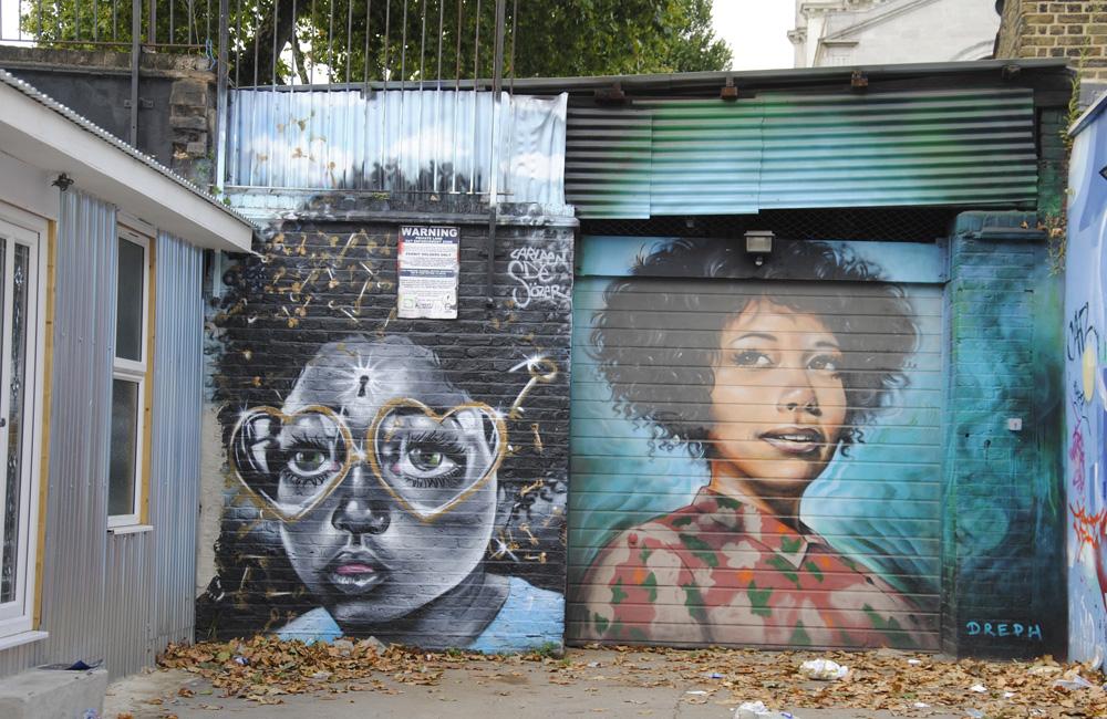 Graffiti en la capital británica