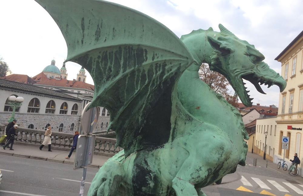 Dragón típico de Eslovenia