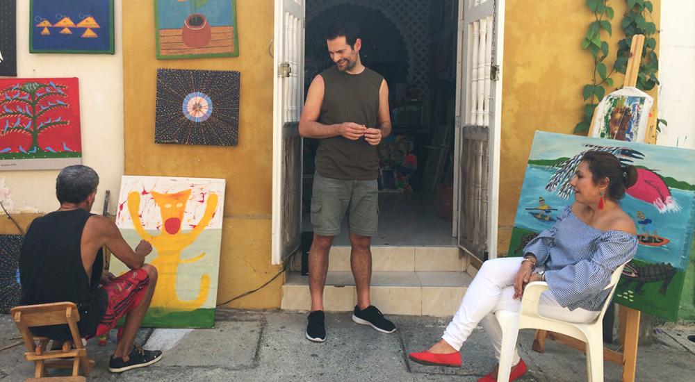 cartagena,indias,getsemani,arte,pintura,colombia