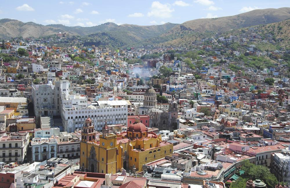 Vistas de la ciudad de guanajuato, México