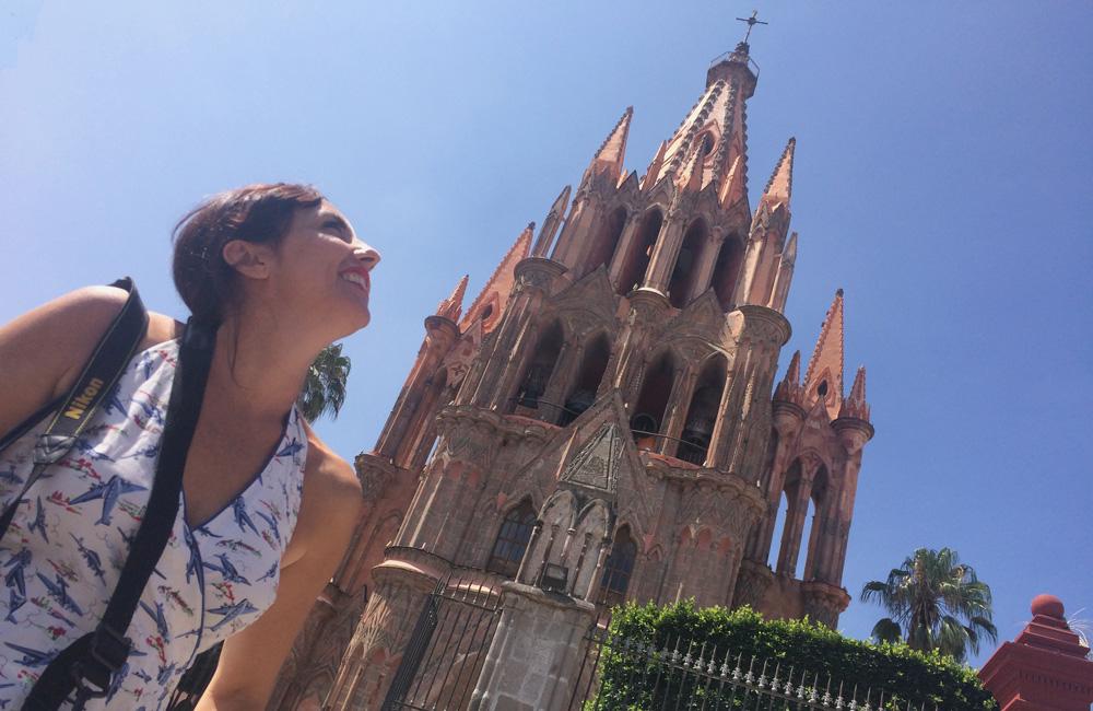 Iglesia de san miguel allende, México