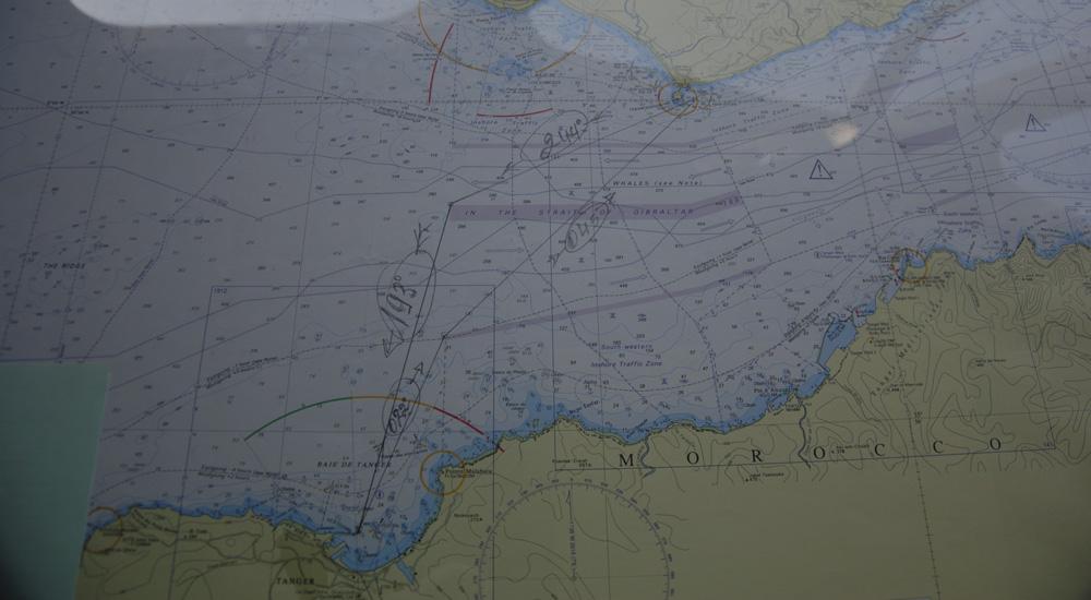 Este es el mapa donde se ve la autovía que hay en el estrecho de Gibraltar