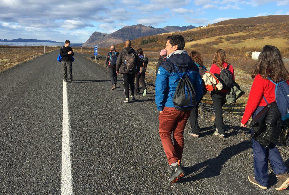 Camino a Svartifoss (Islandia)