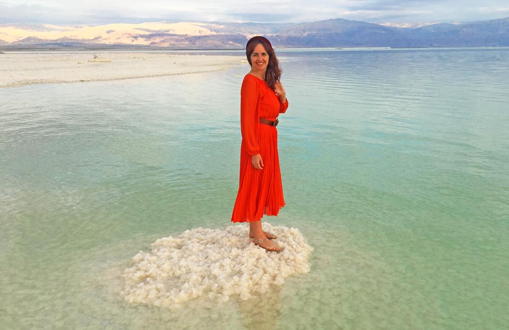 sandra en el mar muerto, Israel