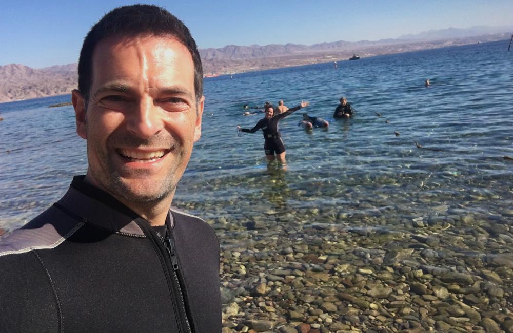 Mar rojo en Eilat (Israel)