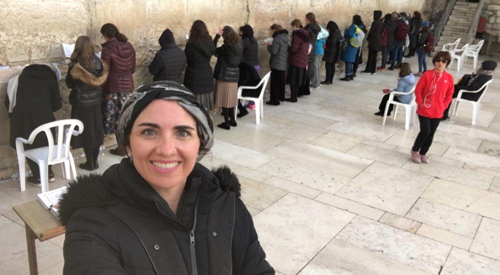 Parte del Muro de las Lamentaciones donde pueden rezar las mujeres en Jerusalén
