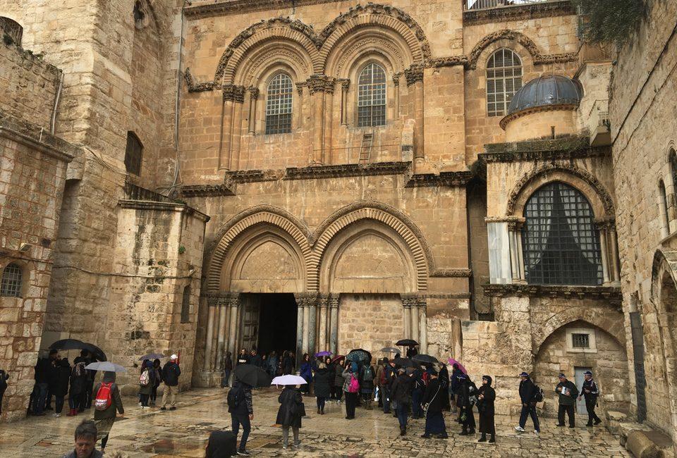 Portada de la iglesia del Santo Sepulcro