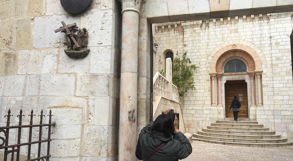 Estación 4 de la Via Dolorosa de Jerusalén
