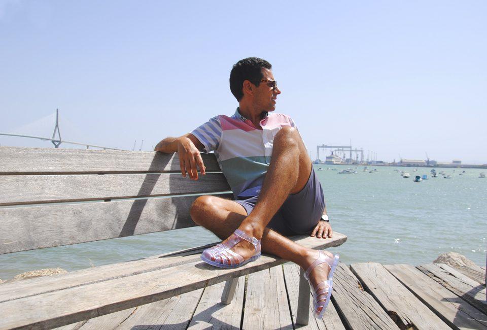 sandalias de hombre a la moda