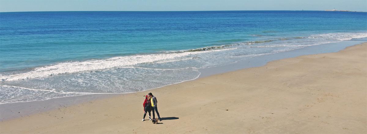 dron cadiz playa mar aerea viajar libertad