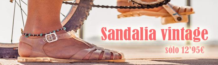sandalias transparentes vintage