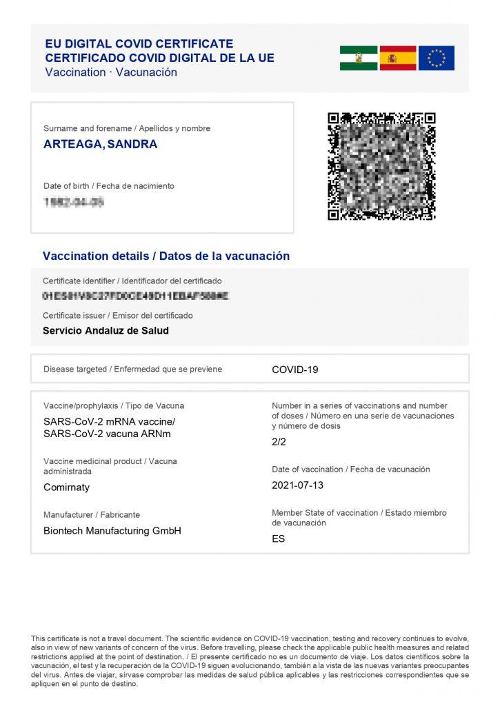 Cómo conseguir el pasaporte COVID en Andalucía